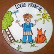 Handpainted Plate - Junior Builder